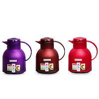 Термос-чайник 1000 мл пластиковый со стеклянной колбой Kamille KM-2084