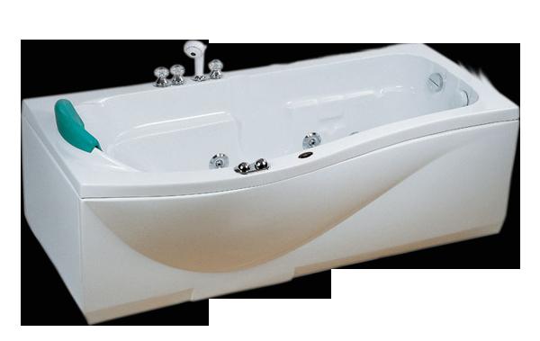 Гидромассажная ванна CRW CCW-1700-2L левосторонняя, 1700х880х570 мм