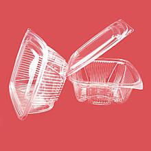 Одноразовые пластиковые контейнеры 1000 мл, упаковка — 75 шт