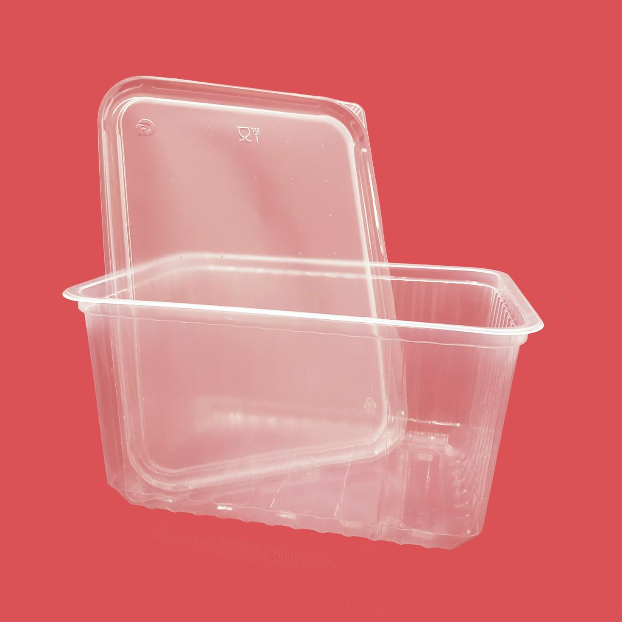 Пластиковая упаковка 1500 мл для пищевых продуктов, упаковка — 50 шт