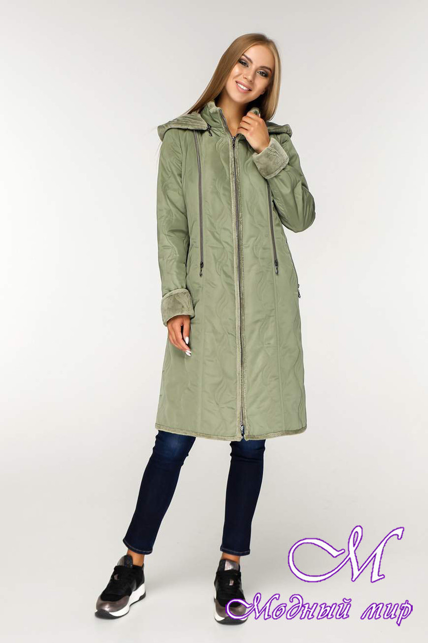 Теплая женская демисезонная куртка (р. 46-58) арт. 890 Тон 5-2