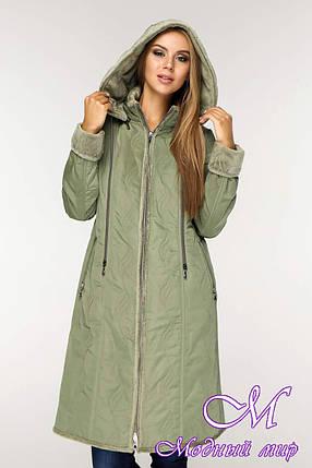 Теплая женская демисезонная куртка (р. 46-58) арт. 890 Тон 5-2, фото 2
