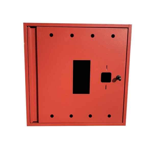 Шкаф пожарный ШП 6060 У навесной, без задней стенки, с кассетой, Красный, 600х600х230