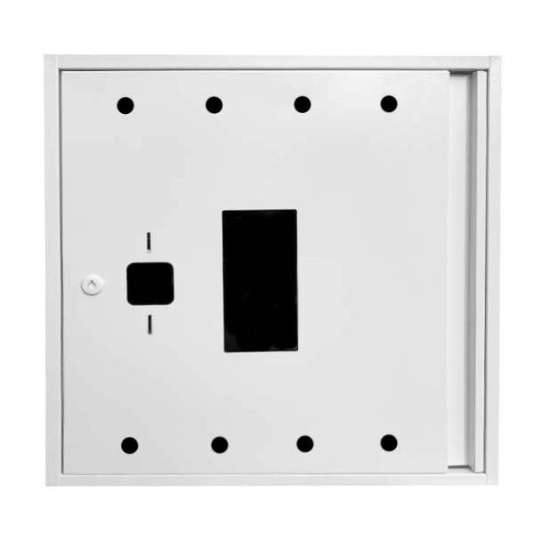 Шкаф пожарный ШП 8060 У навесной, без задней стенки, с кассетой, Белый, 800х600х230