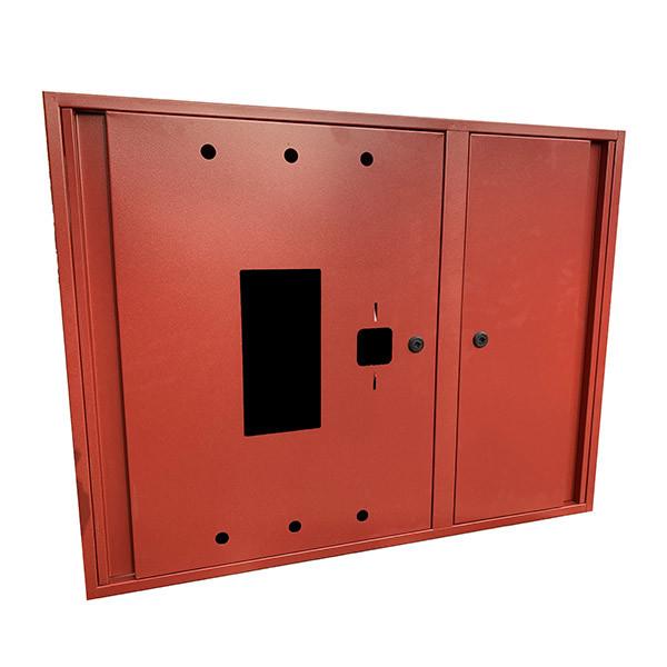 Шкаф пожарный ШП 9070 У навесной, без задней стенки, с кассетой, Красный, 900х700х230