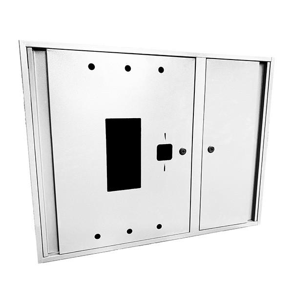 Шкаф пожарный ШП 9070 У навесной, без задней стенки, с кассетой, Белый, 900х700х230