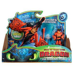 Как приручить дракона 3: набор из дракона Кривоклыка и всадника Сморкалы SM66621/7328 Spin Master