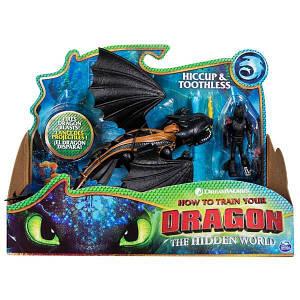 Как приручить дракона 3: набор из дракона Беззубика и всадника Иккинга SM66621/7311 Spin Master