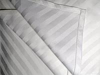 Салфетка тканевая для сервировки стола белая с полоской  Atteks - 1518, фото 1