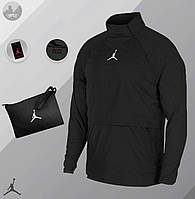 Ветровка  Анорак Jordan black  / куртка осенне-весенняя