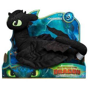 Как приручить дракона 3: Мягкая игрушка Беззубик де-люкс (35см) SM66625 Spin Master