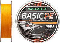 Шнур Select Basic 100m (оранжевый) 0.08mm 8lb/4kg