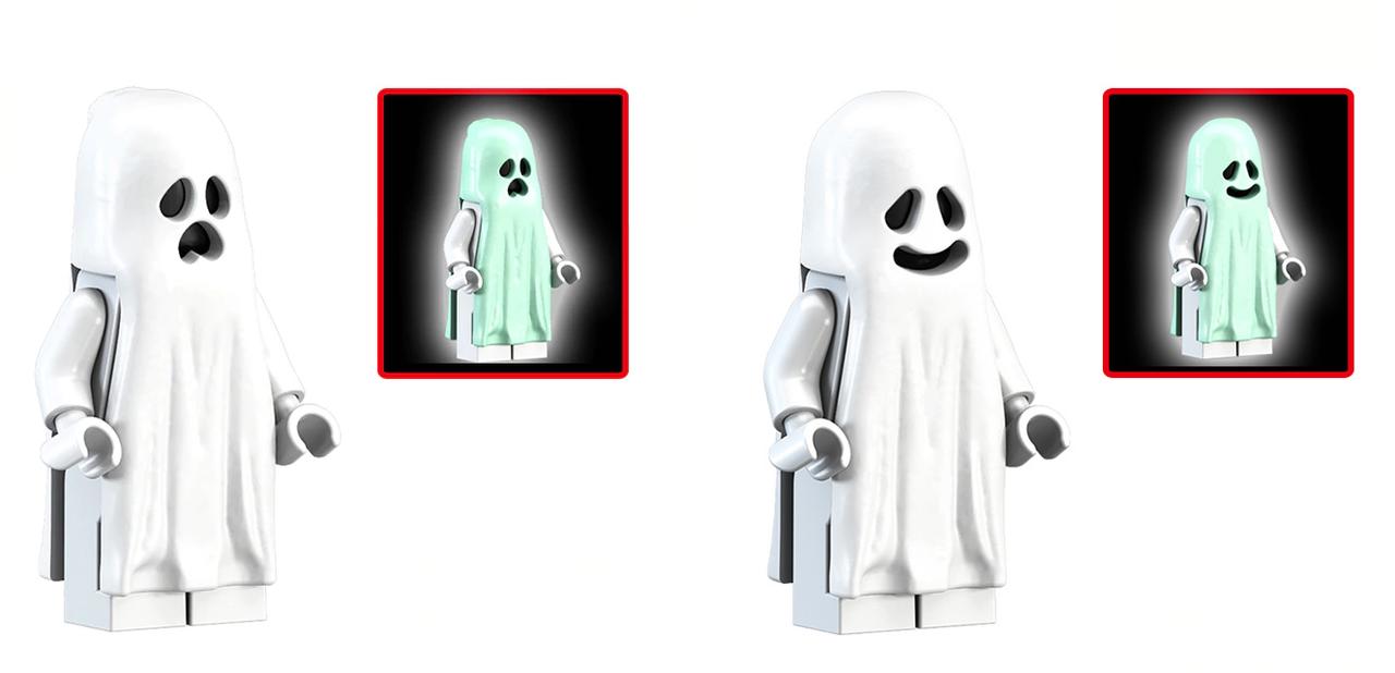 Фигурки призрак светиться ,привидение фантом, дух мираж Lego Лего