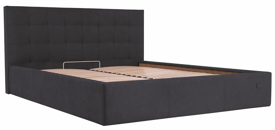 Ліжко Честер Стандарт Місті DK.Grey, 90х190 (Richman ТМ)