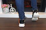 Кроссовки черные с белой подошвой Т332, фото 3