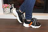 Кроссовки черные с белой подошвой Т332, фото 4