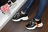 Кроссовки черные с белой подошвой Т332, фото 5