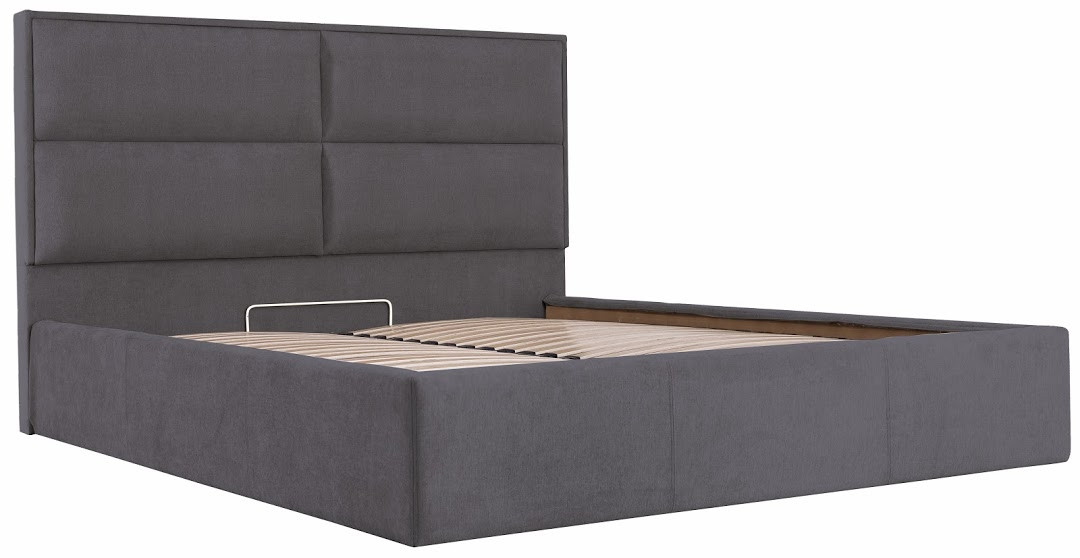 Ліжко Шеффілд Стандарт Місті DK.Grey, 90х190 (Richman ТМ)