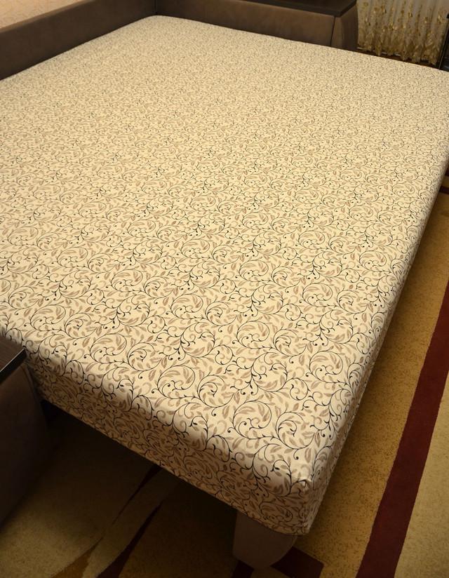 Простынь на резинке 180х200 см «Узоры» in Luxury™ арт.32044