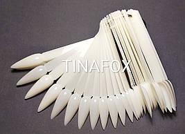 Палитра белая на кольце для демонстрации гель-лаков, 50 шт