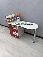 Красно-белый стол для маникюра
