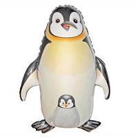 Качество! Шар из фольги на Детский праздник FM Пингвин черный 90см X 61см