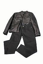 Демисезонные детские джинсы для мальчика SILVIAN HEACH Италия RJJI6088PA, черные