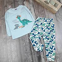 Детская пижама Дино-меломан  90, 100, фото 1