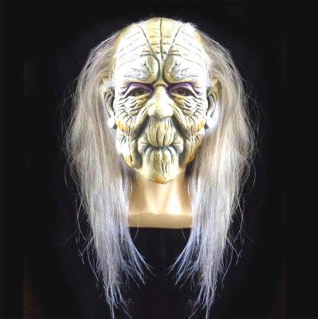 Маска  Ведьмы с волосами - латексная