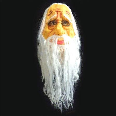 Маска Старика с волосами - латексная
