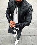 Мужская стильная кожанка (черная) - Турция, фото 2
