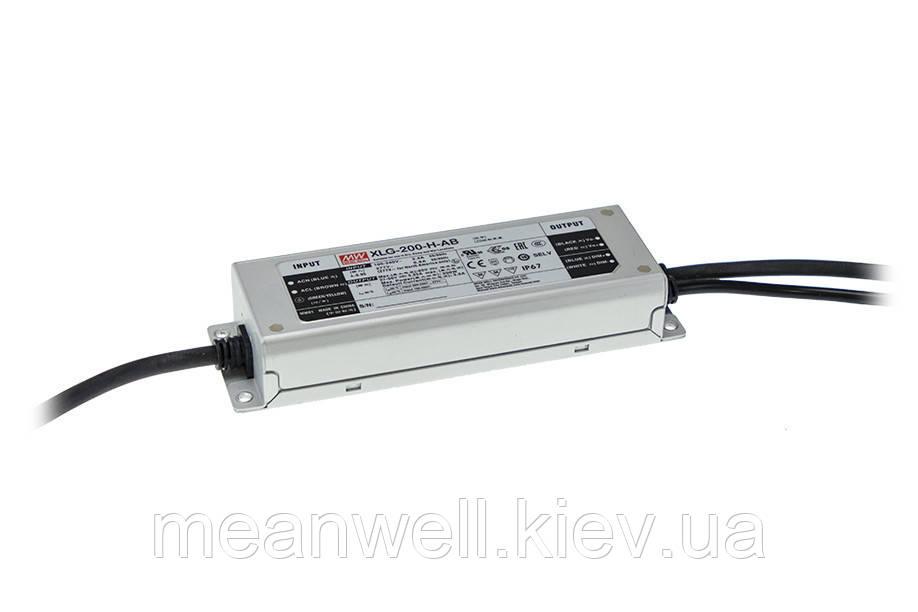 XLG-200-L-AB Блок питания Mean Well 200Вт, 700-1050mА, 142-285V драйвер питания светодиодов LED IP67