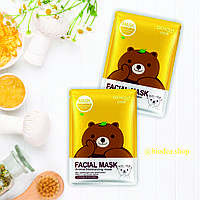 Тканинна маска Bioaqua Animal Refreshing Plant Friends Facial Mask.