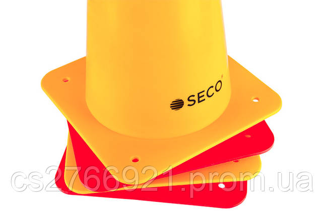 Тренировочный конус SECO 48 см цвет: красный , фото 2