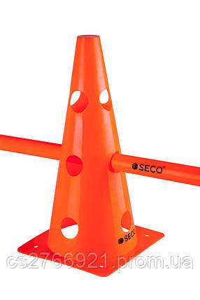 Тренировочный конус с отверстиями SECO 32 см цвет: оранжевый , фото 2