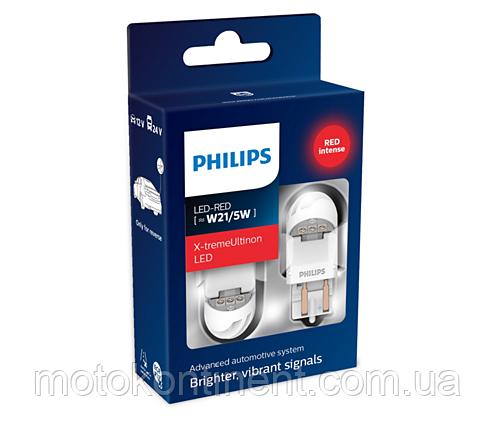 W21/5W Лампочки в стопы/габариты Philips GEN2 W21/5W LED 12/24V 2.2W W3X16D красные /PS 11066XURX2