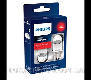 W21/5W Лампочки в стопы/габариты Philips GEN2 W21/5W LED 12/24V 2.2W W3X16D красные /PS 11066XURX2, фото 2