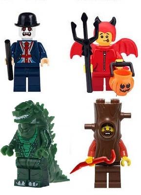 Фигурки  Зомби призраки Хэллоуин  Lego Лего человек-дерево,маленький дьявол,лондонский Вампир Горилла Годзилла