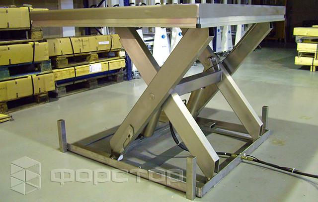 Подъемный стол из нержавеющей стали