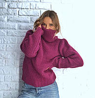Женский вязаный свитер oversize в разных цветах 42-48 р