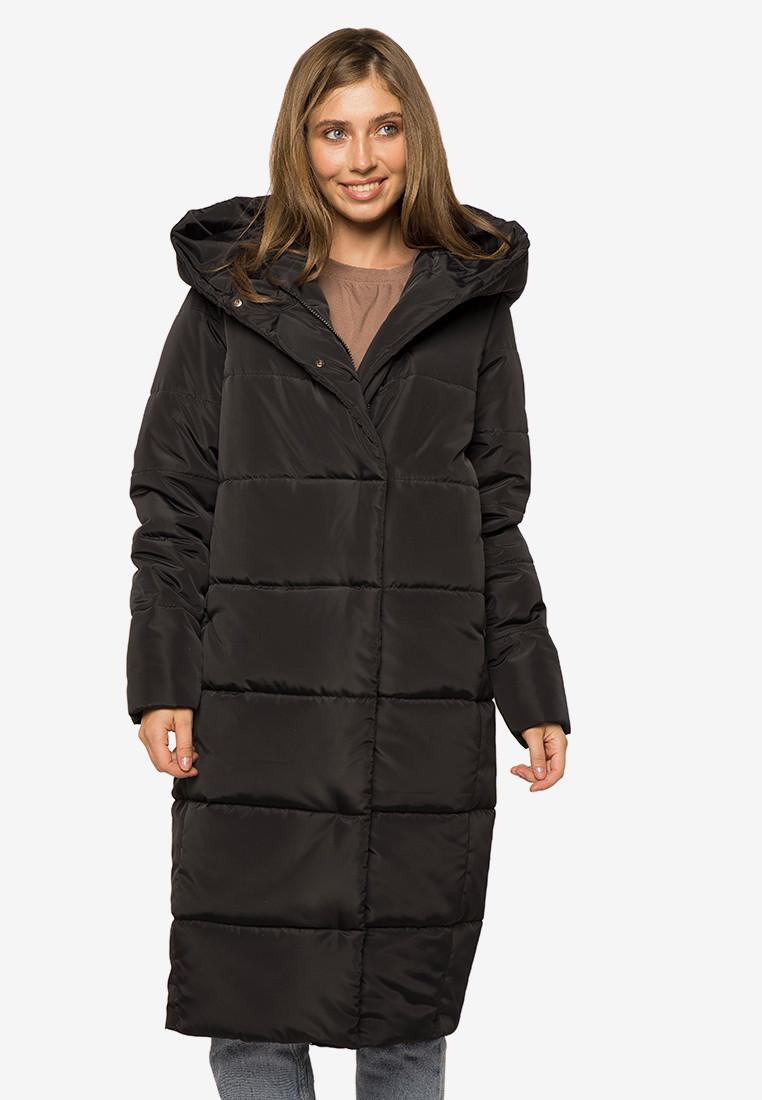 Длинная теплая зимняя женская куртка с капюшоном Modniy Oazis черный 90393, фото 1