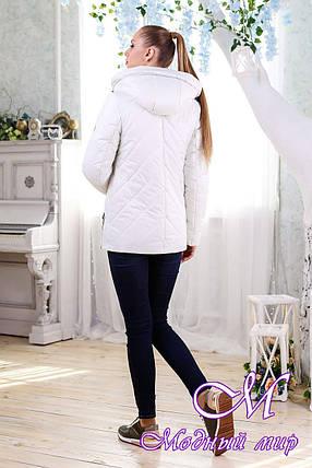 Женская белая демисезонная куртка (р. 44-58) арт. 1091 Тон 25, фото 2