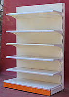 Торговые пристенные (односторонние) стеллажи «Колумб» 210х127 см., кремовые, Б/у, фото 1