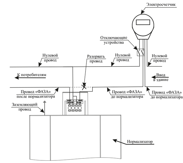 Схема подключения стабилизатора