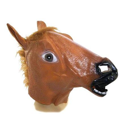Маска Лошади - латексная коричневая