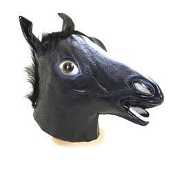 Маска Лошади - латексная черная