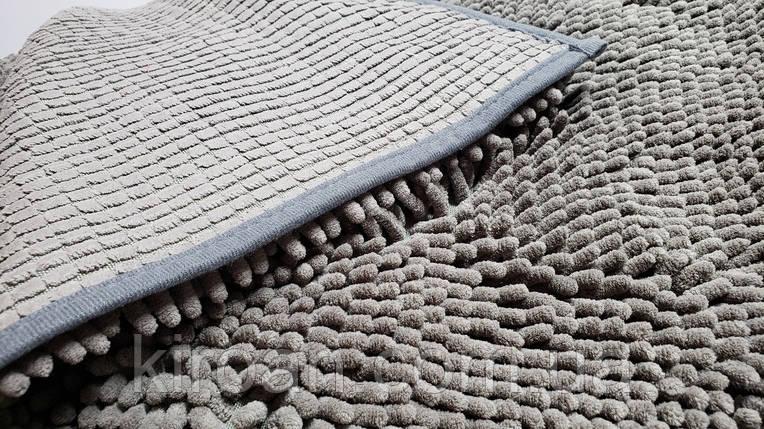 Коврик в ванную комнату Махрамат (серый) 50х80 см, фото 2