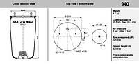 Пневмоподушка BPW RML7051,1DK21K,1R11-703,V1DK21K
