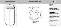 Пнеамоподушка прицепа RML7992 ,1DK32,1R14-708,V1DK32,3881