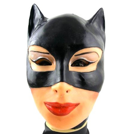 Маска Женщины Кошки - резиновая